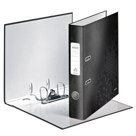 Ordner 180° WOW A4 50mm schwarz metallic PP Leitz 1006-00-95 Produktbild