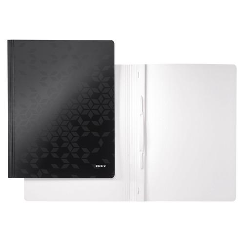 Schnellhefter WOW A4 schwarz PP-laminierter Karton Leitz 3001-00-95 Produktbild Front View L
