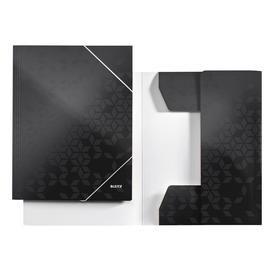 Eckspanner WOW A4 für 250Blatt schwarz metallic PP-laminierter Karton Leitz 3982-00-95 Produktbild