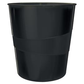 Papierkorb WOW 15l schwarz metallic Leitz 5278-10-95 Produktbild
