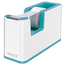 Tischabroller WOW Duo Colour befüllbar bis 19mm x 33m weiß/eisblau metallic Leitz 5364-10-51 Produktbild