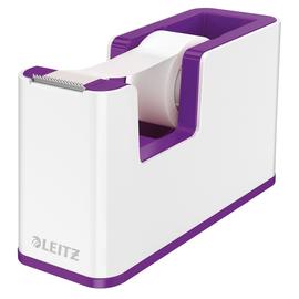 Tischabroller WOW Duo Colour befüllbar bis 19mm x 33m weiß/violett metallic Leitz 5364-10-62 Produktbild