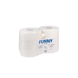 Aktion Toilettenpapier Jumbo Rollen 300m 9,6cm Ø25cm 2-lagig hochweiß (PACK=6 ROLLEN) Produktbild