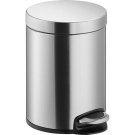 Tretabfallbehälter Design Classics 5l Stahlblech silber Helit H2403400 Produktbild