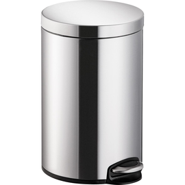 Tretabfallbehälter Design Classics 12l Stahlblech silber Helit H2403500 Produktbild