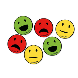 Haftmagnete Smiley ø 50 mm Haftkraft 5g farbig sortiert Legamaster 7-123304 (PACK=6 STÜCK) Produktbild