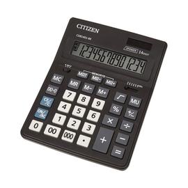 Tischrechner 14-stelliges LC-Display 205x155x35mm Solar-/Batteriebetrieb Citizen CDB1401-BK Produktbild