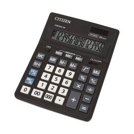 Tischrechner 16-stelliges LC-Display 205x155x35mm Solar-/Batteriebetrieb Citizen CDB1601-BK Produktbild