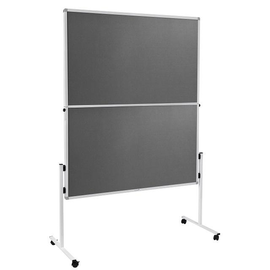 Moderationswand ECONOMY klappbar 150x120cm grau filzbespannt Legamaster 7-209300 Produktbild
