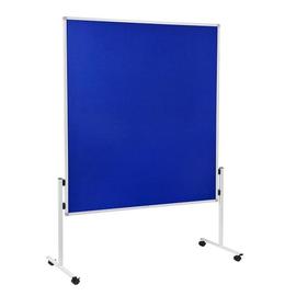 Moderationswand ECONOMY starr 150x120cm blau filzbespannt Legamaster 7-209100 Produktbild
