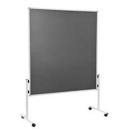 Moderationswand ECONOMY starr 150x120cm grau filzbespannt Legamaster 7-209000 Produktbild