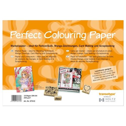 Transotype Perfect Colouring Paper 250g/m² A4 10Blatt Markerpapier 7010 (ST=10 BLATT) Produktbild Front View L