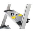 Stehleiter COMFORTLINE L80 4-stufig silber Aluminium Hailo 8040-407 Produktbild Additional View 2 S