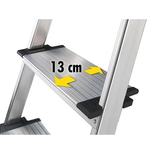 Stehleiter COMFORTLINE L80 4-stufig silber Aluminium Hailo 8040-407 Produktbild Additional View 2 L
