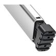 Stehleiter COMFORTLINE L80 4-stufig silber Aluminium Hailo 8040-407 Produktbild Additional View 3 S