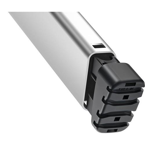 Stehleiter COMFORTLINE L80 4-stufig silber Aluminium Hailo 8040-407 Produktbild Additional View 3 L