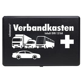 KFZ-Verbandskasten nach DIN 13164 schwarz Söhngen 3004002 Produktbild