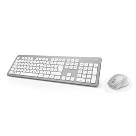 Tastatur und Mouse Set KMW-700 silber/weiß Hama 00182676 Produktbild