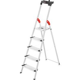 Stehleiter COMFORTILNE L80 5-stufig silber Aluminium Hailo 8040-507 Produktbild
