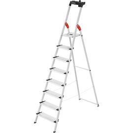 Stehleiter COMFORTLINE L80 8-stufig silber Aluminium Hailo 8040-807 Produktbild