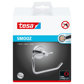 WC-Papierrollenhalter SMOOZ ohne Deckel chrom 14x5x10cm Tesa 40314-00000 Produktbild