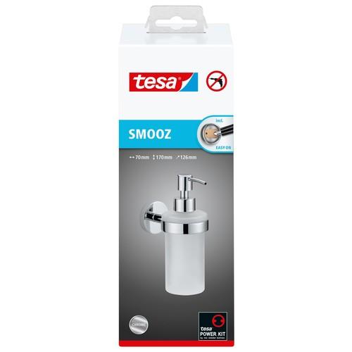 Seifenspender SMOOZ verchromt / satinierter Glasbecher 7x12,6x17cm Tesa 40323-00000 Produktbild