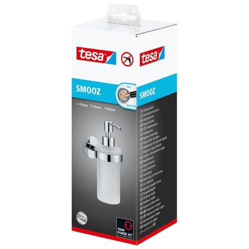 Seifenspender SMOOZ verchromt / satinierter Glasbecher 7x12,6x17cm Tesa 40323-00000 Produktbild Additional View 2 L