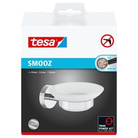 Seifenhalter SMOOZ verchromt / satinierte Glasschale 11x13x5,2cm Tesa 40324-00000 Produktbild