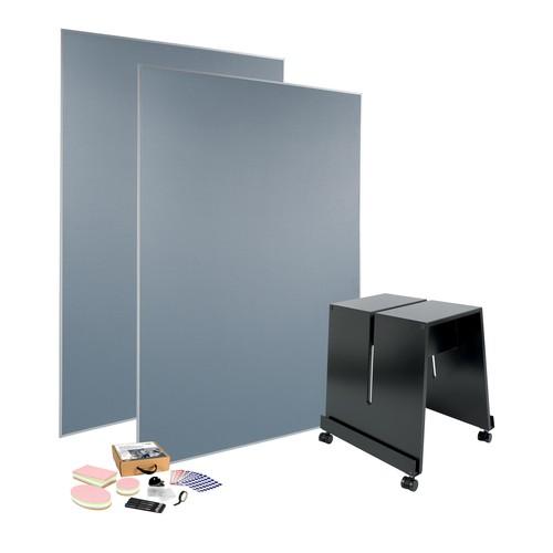 Meet up Bundle 2x Pinboard MU011 mobil 120x180cm + 1x Stand Meet up MU050 + 1x Toolkit MU251 gratis Sigel MUB02 Produktbild Additional View 1 L