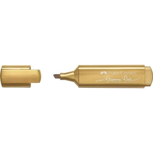 Textmarker TL 46 Metallic Keilspitze gold Faber Castell 154650 Produktbild Front View L