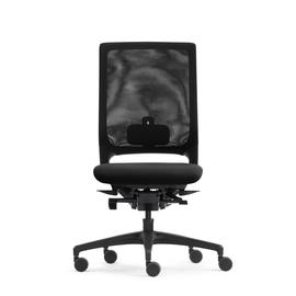 Drehstuhl Mera84 ohne Armlehnen ohne Kopfstütze mit Stricknetz Farbe 0484 schwarz Klöber Produktbild