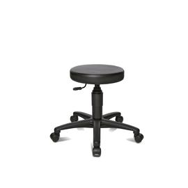 Arbeitsdrehhocker TEC 70 Sitzfläche Ø 37cm Kunstleder Farbe schwarz Topstar 72270.D10 Produktbild