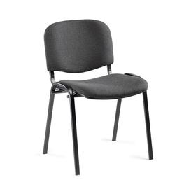 Besucherstuhl ISO Gestell schwarz Farbe anthrazit Deskin 134557 Produktbild