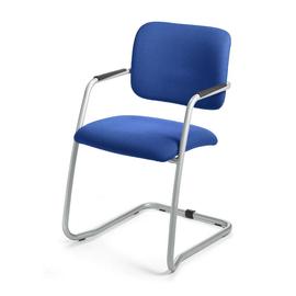 Besucherstuhl TopSWING Gestell alusilber Farbe blau Deskin 284699 Produktbild