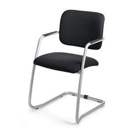 Besucherstuhl TopSWING Gestell alusilber Farbe schwarz Deskin 284697 Produktbild