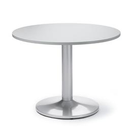Besprechungs- und Konferenztisch MODUL rund ø 100cm mit Tellerfuß Höhe 73,5cm lichtgrau Deskin Produktbild