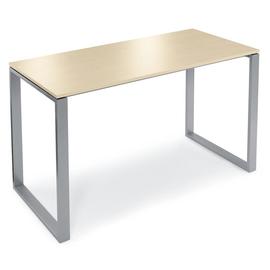 Stehtisch CELSUS 160x80x110cm Gestell alusilber Tischdekor ahorn Deskin 278855 Produktbild