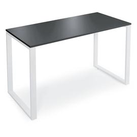 Stehtisch CELSUS 160x80x110cm Gestell weiß Tischdekor anthrazit Deskin 278862 Produktbild
