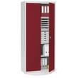 Flügeltürenschrank Korpus lichtgrau Türen rubinrot Deskin 269523 Produktbild