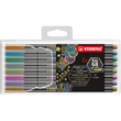 Fasermaler Pen 68 Metallic Kunststoff- Etui 1,4mm Rundspitze sortiert Stabilo 6808/8-11 (ETUI=8 STÜCK) Produktbild