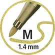 Fasermaler Pen 68 Metallic Kunststoff- Etui 1,4mm Rundspitze sortiert Stabilo 6808/8-11 (ETUI=8 STÜCK) Produktbild Additional View 5 S