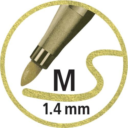 Fasermaler Pen 68 Metallic Kunststoff- Etui 1,4mm Rundspitze sortiert Stabilo 6808/8-11 (ETUI=8 STÜCK) Produktbild Additional View 5 L