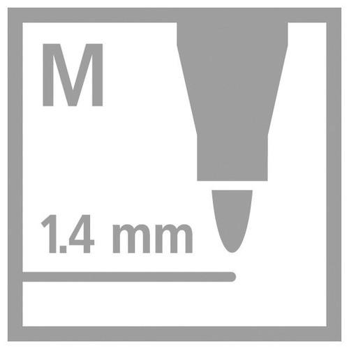 Fasermaler Pen 68 Metallic Kunststoff- Etui 1,4mm Rundspitze sortiert Stabilo 6808/8-11 (ETUI=8 STÜCK) Produktbild Additional View 6 L