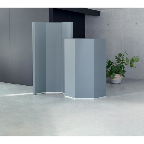 Akustik-Raumtrenner Sound Balance Stoff dunkelgrau 100x180x5cm Sigel SB410 Produktbild Additional View 1 L