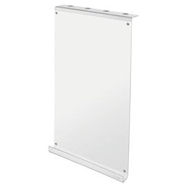 Schreibtafel für Akustik-Zubhör Acryl transparent/weiß 30x60x6cm Sigel SB720 Produktbild