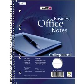 Collegeblock Office A5 liniert 6-fach Lochung Rand links 80Blatt 70g holzfrei weiß Landré 100050258 Produktbild