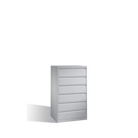 Karteischrank 3-bahnig weißaluminium C+P 12936-323-9006 Produktbild