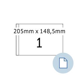 Etiketten Inkjet+Laser+Kopier 148,5x205mm auf A5 Bögen weiß permanent Herma 8493 (PACK=1000 STÜCK) Produktbild