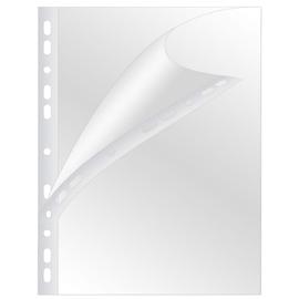 Prospekthülle oben/seitlich offen A4 hoch 100µ genarbt BestStandard (PACK=100 STÜCK) Produktbild
