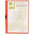Klemmmappe A4 mit Metallclip bis 30 Blatt transparent/rot PVC BestStandard KF00461 Produktbild